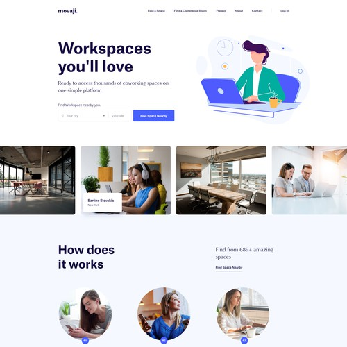 Workspace sharing company home page