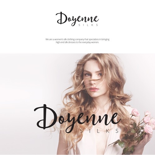 Branding for Doyenne Silk dresses for women