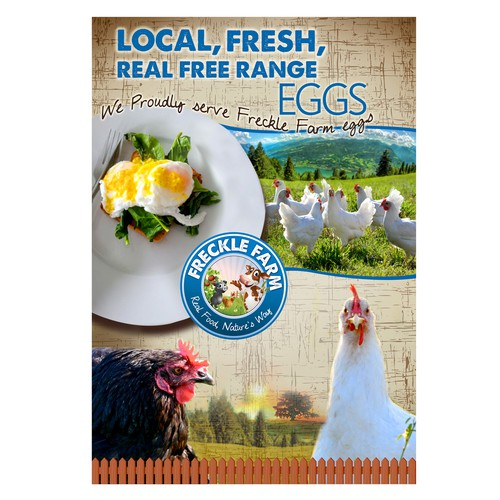 Freckle Farm Eggs Poster
