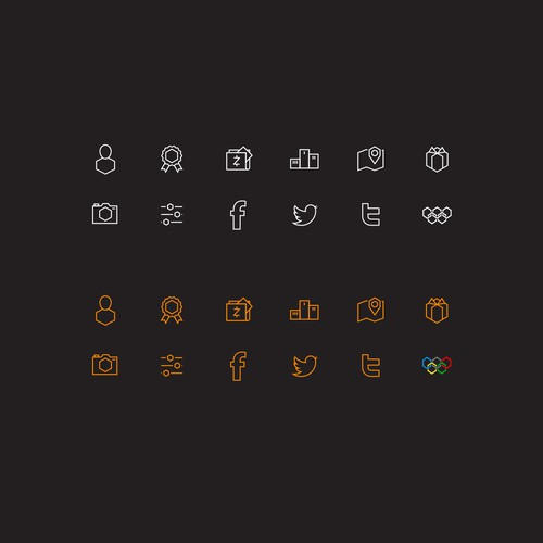 Hexagonal icons for app