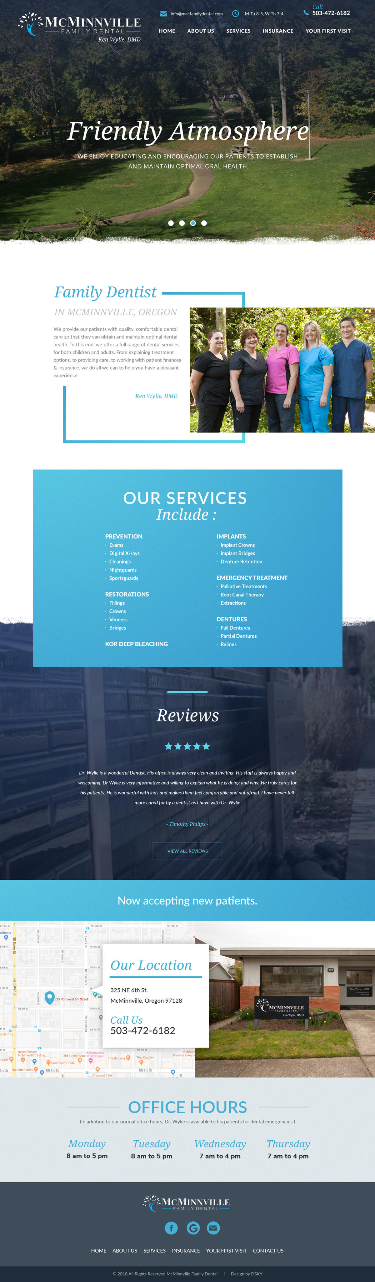 Redesign front page of website