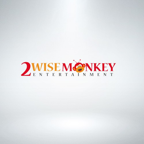 Create a  logo for cool new, international TV and media company, Two Wise Monkeys Entertainment
