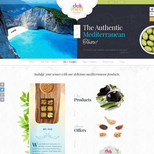 The website sells mediterranean food online