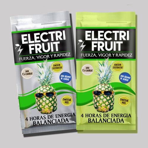 Packaging design for Fruity, Clean Energy