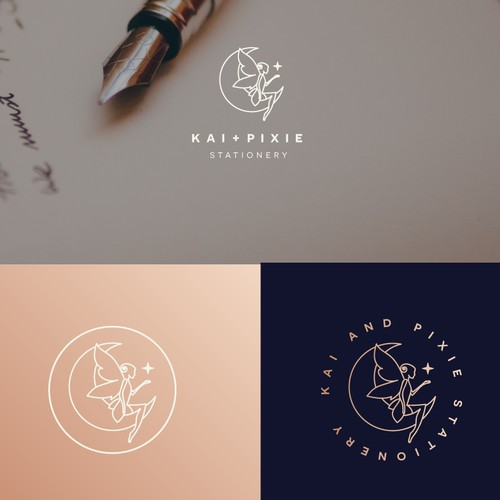kai and pixie logo design