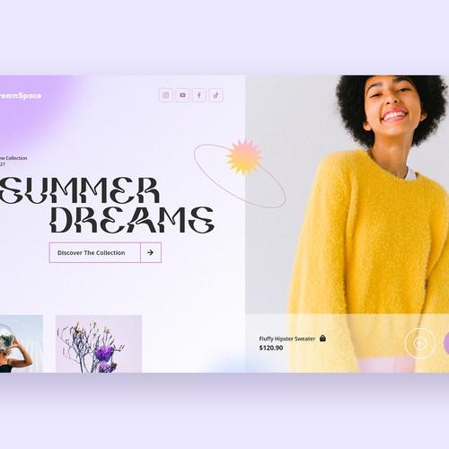 Fashion e-commerce homescreen