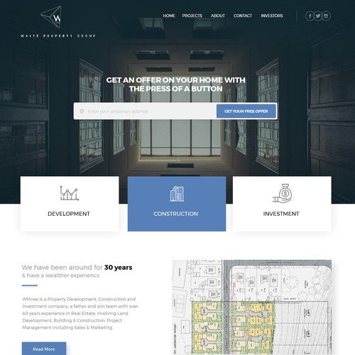 Boutique Property Developer Website Redesign for Waite Property Group
