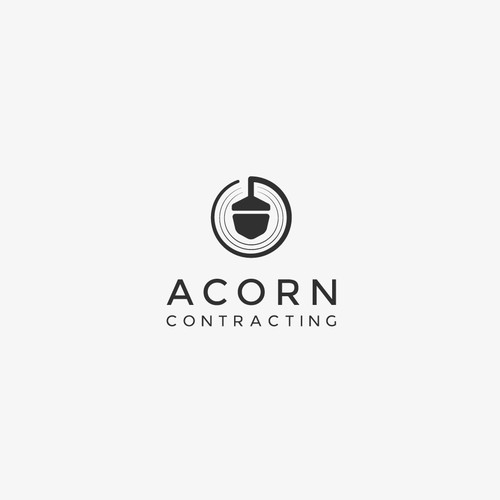 Clean logo concept for construction company