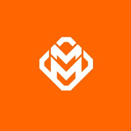 Geometric Letter 'MM' Logo (for sale)