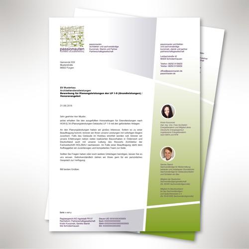 Briefbogen für Architekten