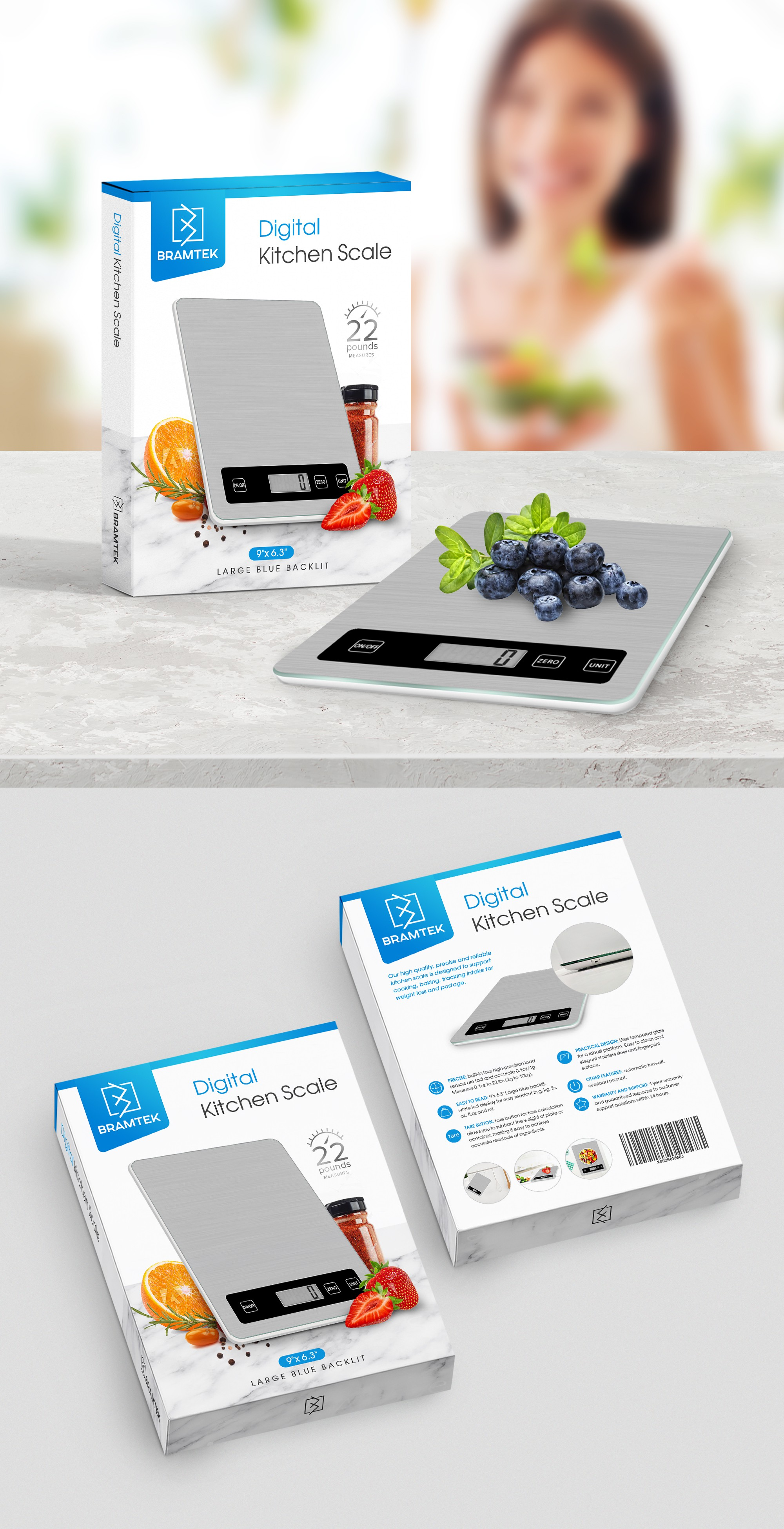 Design Packaging for a High Quality Digital Kitchen Scale