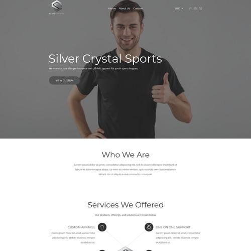 Silver Crystal Sports - Sports Apparel Website