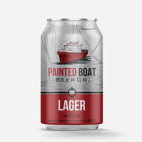 Diseño de lata PAINTED BOAT BEER