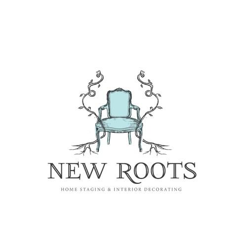 Handdrawn logo for interior decoration