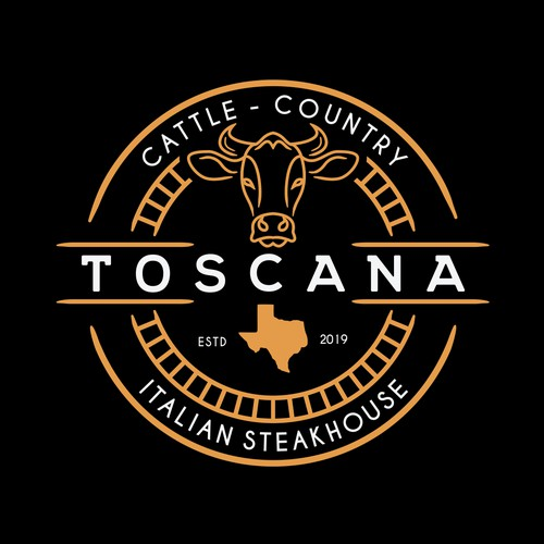 """Toscana"" Upscale Italian Steakhouse - Texas - Logo"