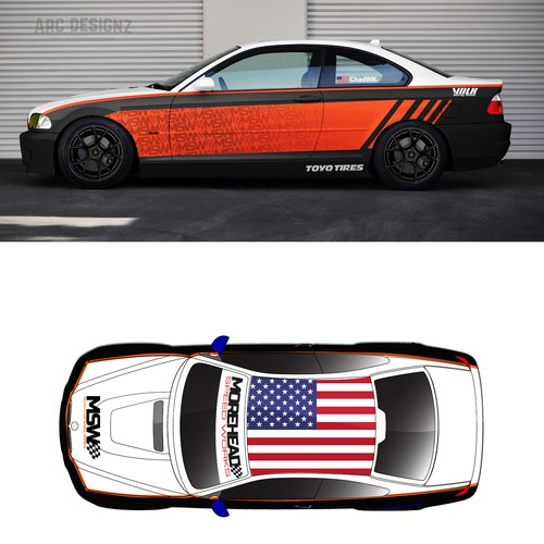 BMW rally car wrap for MSW