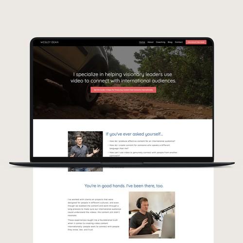 Wesley Dean Squarespace Website Design