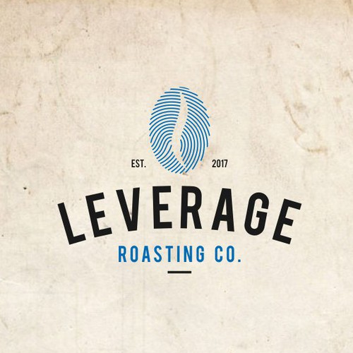 Leverage Roasting Logo design