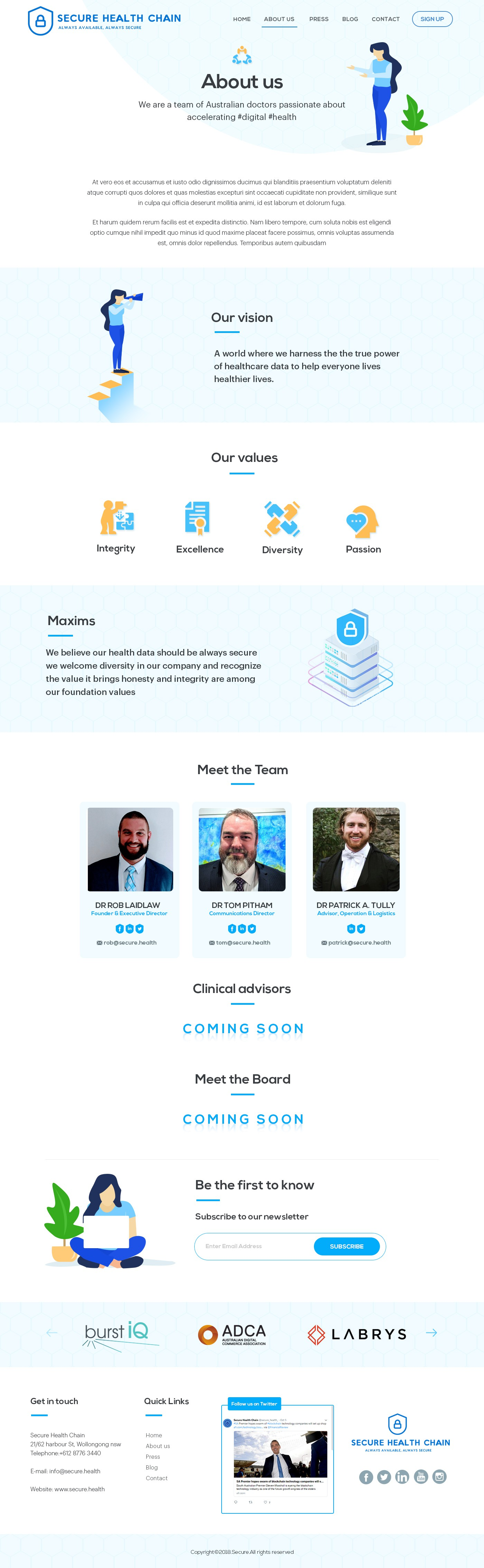 Secure Health Website Design & Development