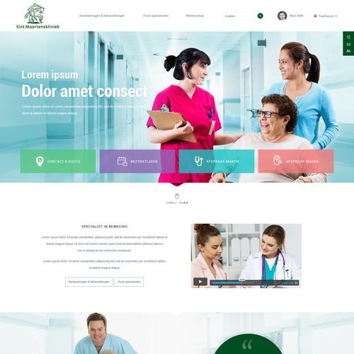 Modern homepage design for a hospital