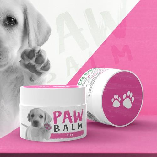 Paw Balm Label Design