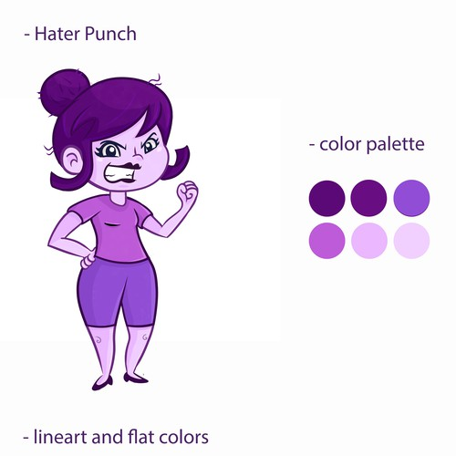 Character Design Hater Punch