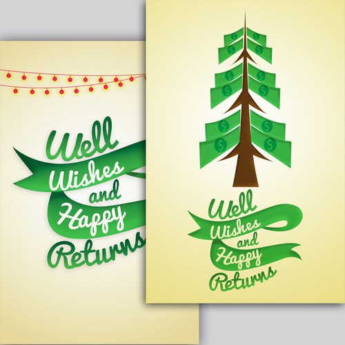 Holiday card for tax/accounting firm
