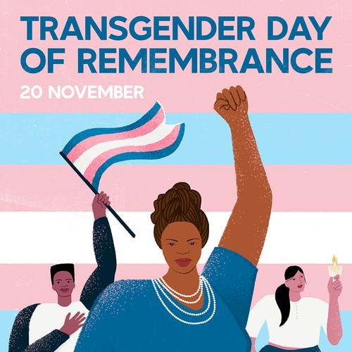 Poster illustration to promote transgender awareness