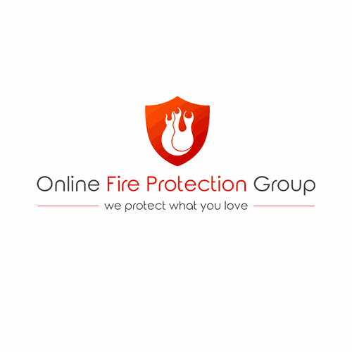 Logo concept for Online Fire Protection Group