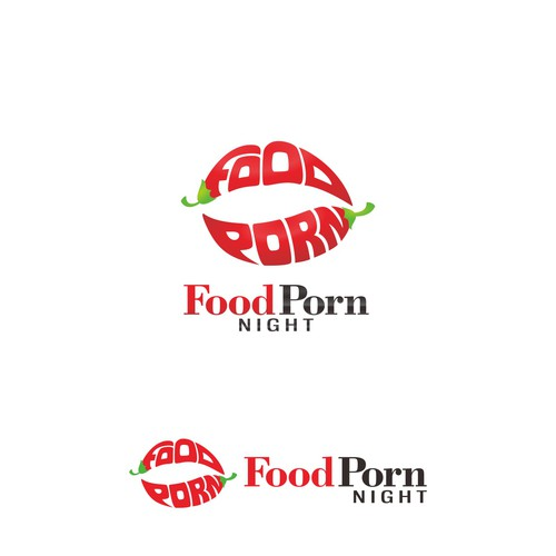 Logo for a sexy food night out called food porn night.