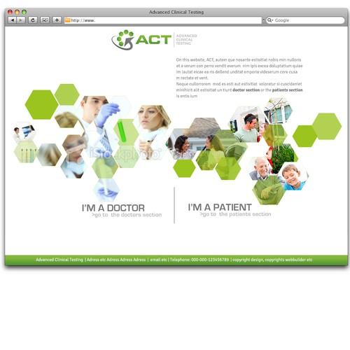 New website design wanted for Advanced Clinical Testing