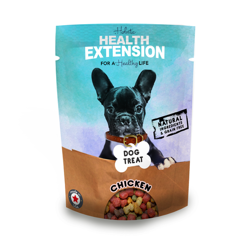 Create a fresh line of 9 different dog treats (in fully printed pouches)