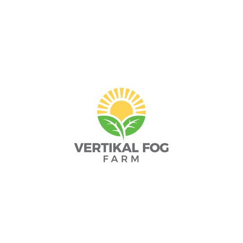 Making a logo concept for vertikal fog farm