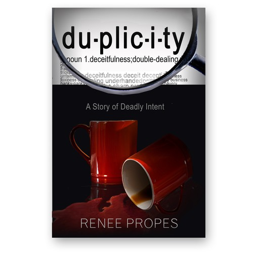 "Cover for ""du-plic-i-ty"" mystery/thriller"