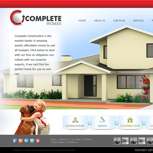 Complete Homes needs a new website design