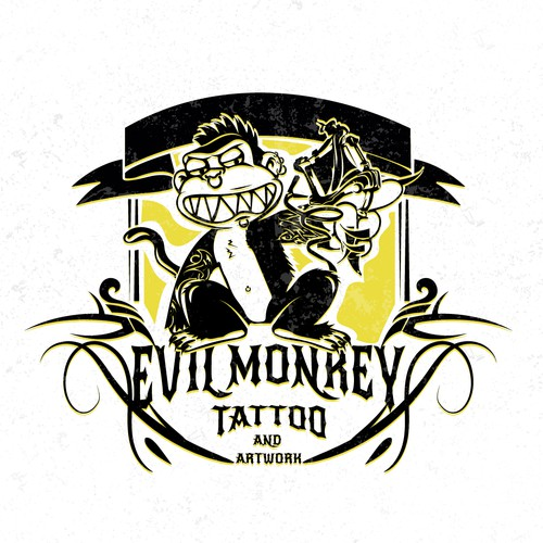 Evil Monkey Tattoo
