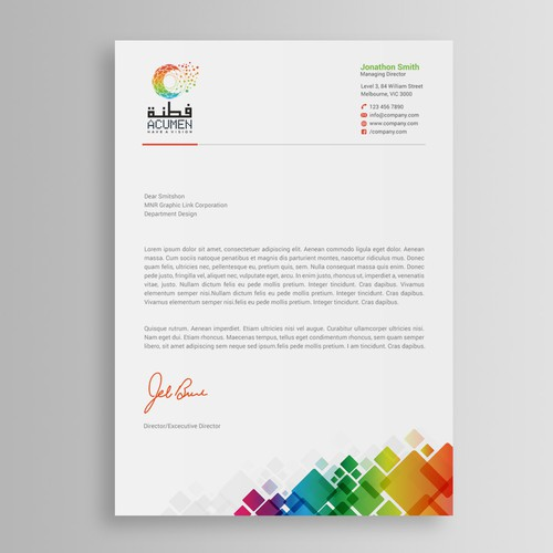 Letterhead contest winner