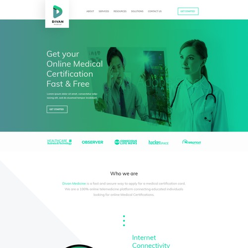 Medical & Pharmaceutical homepage design