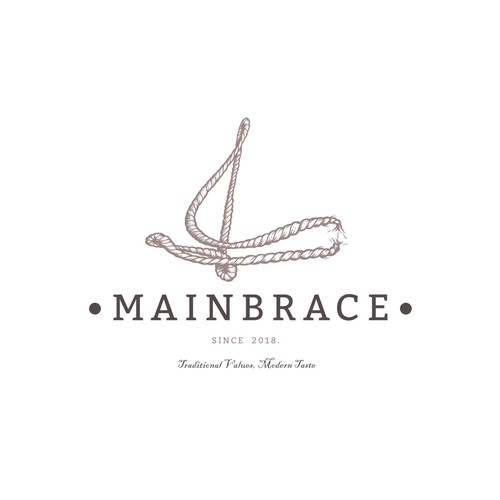 Mainbrace - Vintage Rum Logo design