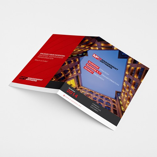 Brochure design for a specialized consulting company