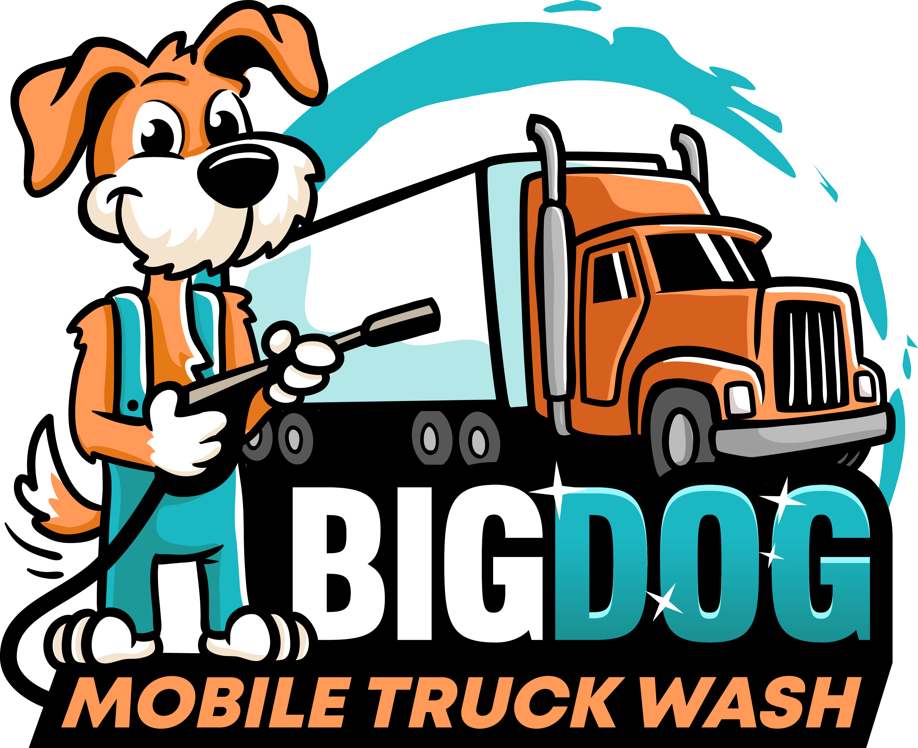 Create a logo for Big Dog Mobile Wash
