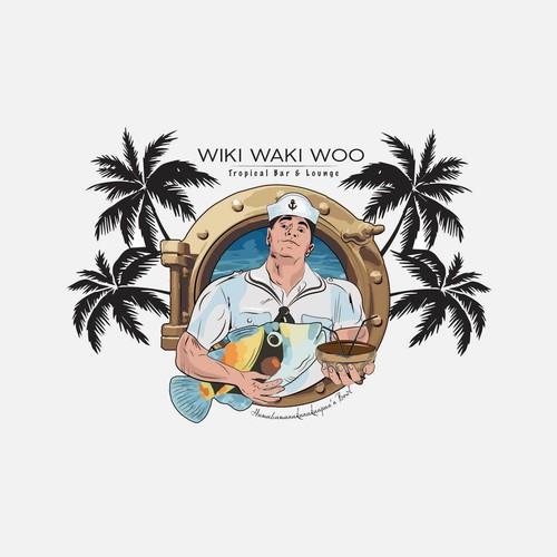 Wiki Waki Woo Logo Design