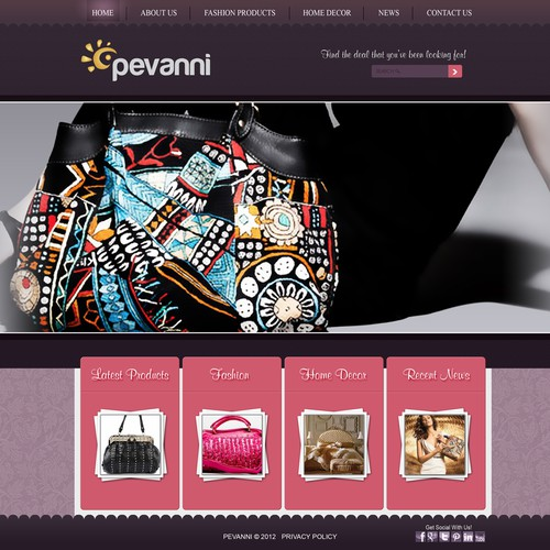 Help Pevanni with a new website design