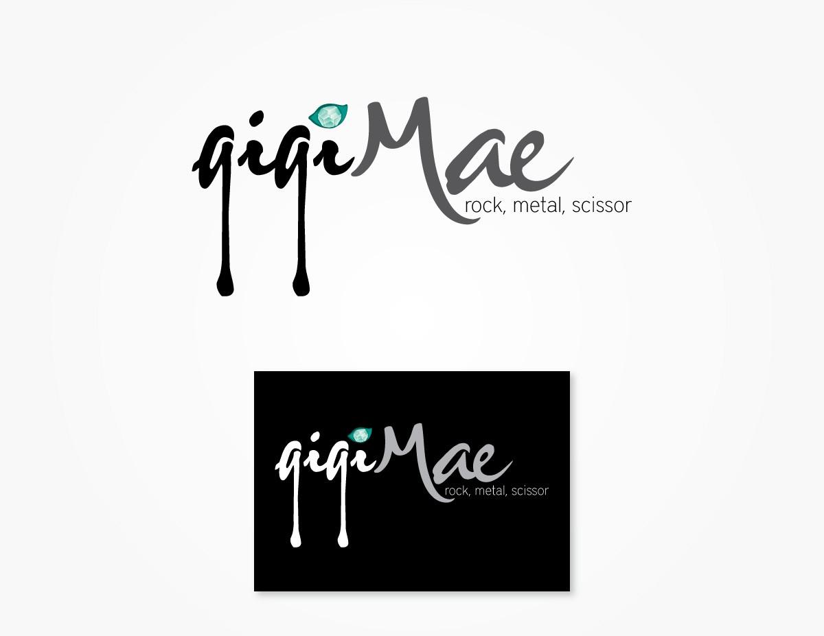 logo for Gigi Mae (rock, metal, scissor)