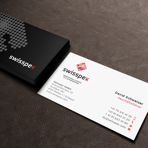 Create business card for Swisspex