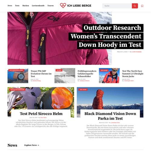 Concept fot Swiss Mountain Sports Website