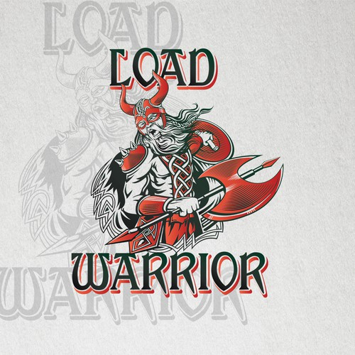 Create a powerful viking logo for Load Warrior.