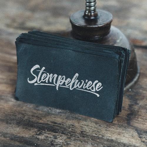 Custom Hand-Lettered Logo-Type for Stempelwiese