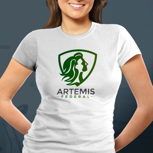 Woman owned security consulting logo for Artemis Federal