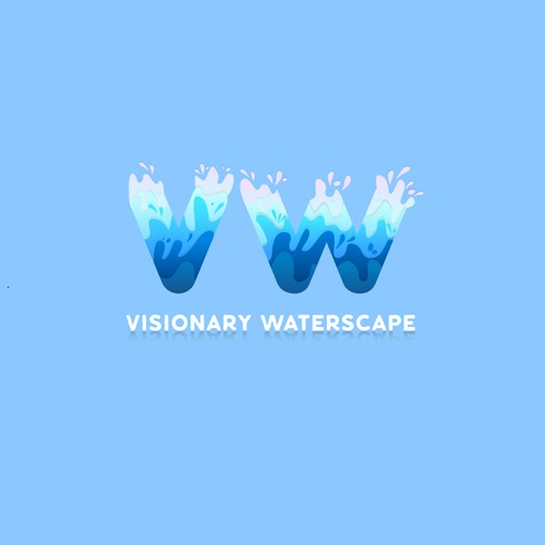 Logo concept for Visionary Waterscape
